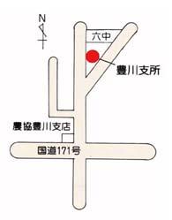 地图:箕面市役所丰川支所