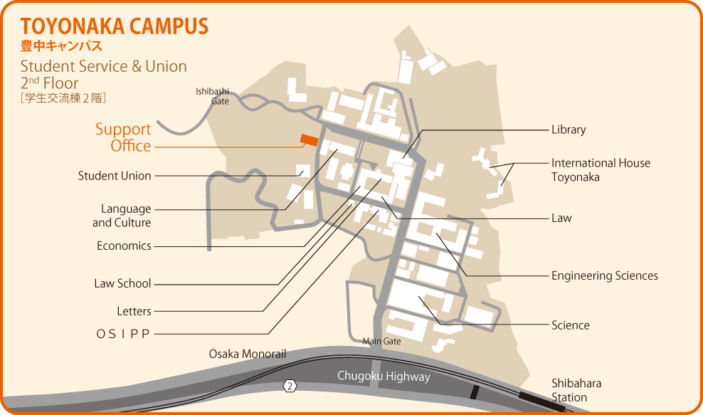 Map: Toyonaka Campus
