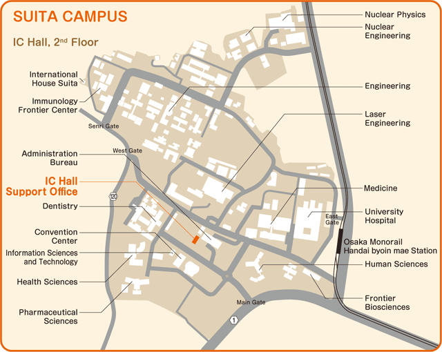 Map: Suita Campus