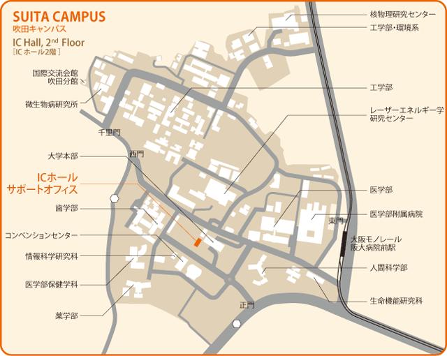 地図:吹田キャンパス